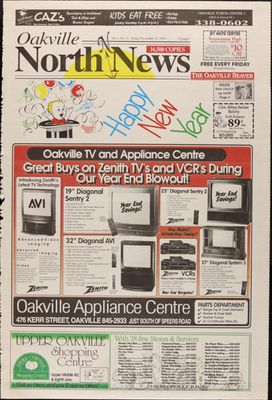 Oakville North News (Oakville, Ontario), 31 Dec 1993
