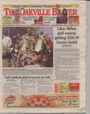 Oakville Beaver, 22 Sep 2000