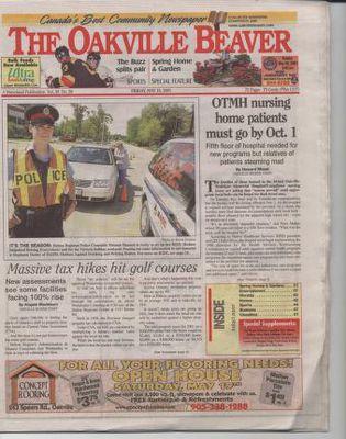 Oakville Beaver, 18 May 2001