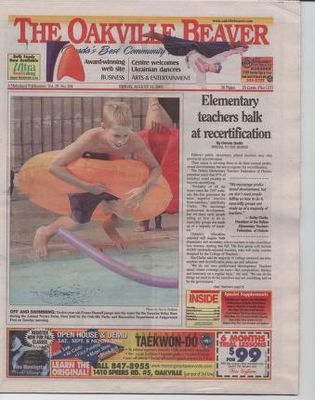 Oakville Beaver, 31 Aug 2001