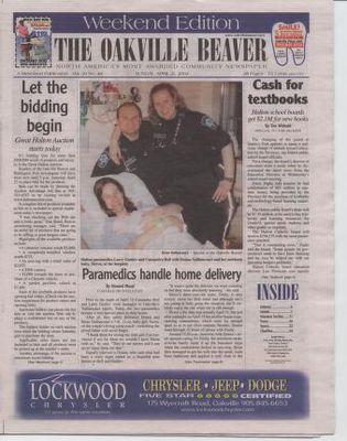 Oakville Beaver, 21 Apr 2002