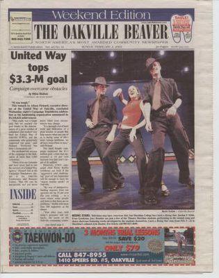 Oakville Beaver, 2 Feb 2003