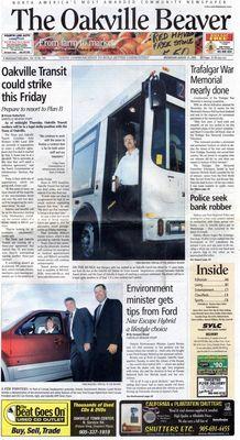 Oakville Beaver, 31 Aug 2005
