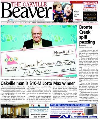 Oakville Beaver, 17 Mar 2010