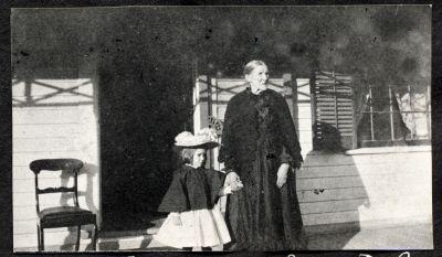 Hazel Chisholm and Grandmother Sarah B.C.