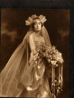 Hazel Chisholm Hart's wedding day