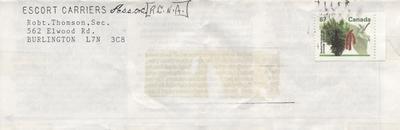 Envelope, R.C.N.A - Escort Carriers Assoc.