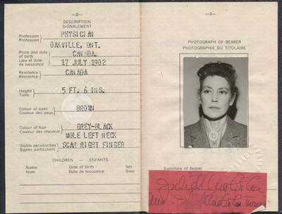Juliet Chisholm's passport