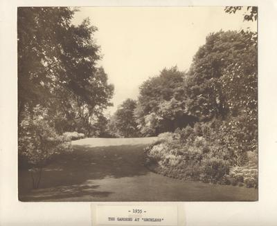 The Gardens at 'Erchless' 1935