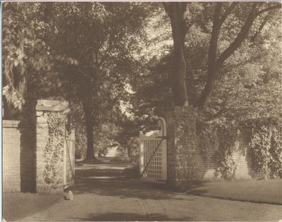 The gates leading into the Erchless Estate 1935