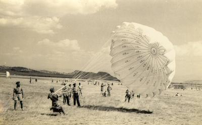 Practice parachuting, Helena, Montana