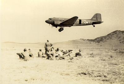 DC-3 plane in training in Helena, Montana, c. 1942-1943