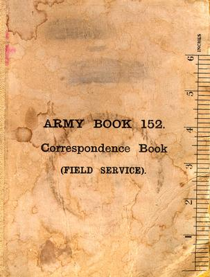 Cover from the Army Book 152-Correspondence Book (Field Service) belonging to Kenneth Dean Marlatt