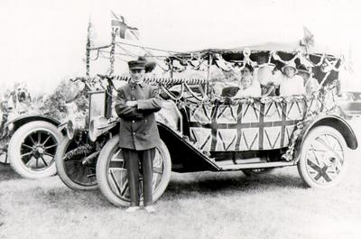 Decorated car in the Victory Celebration Parade