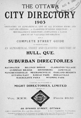 1903 Ottawa City Directory