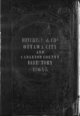 Ottawa City and Carleton County Directory, 1864-5
