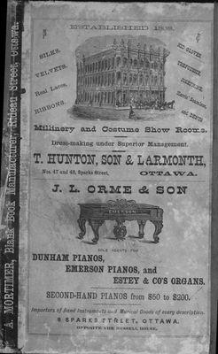 1874-75 Ottawa City Directory