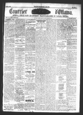 Le Courrier d'Ottawa, 1 May 1861