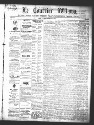 Le Courrier d'Ottawa, 20 Dec 1862