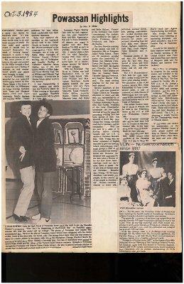 Powassan Highlights 1985 - Scrapbook pages