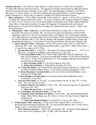 Anderson Thomas family tree (1818-2012)