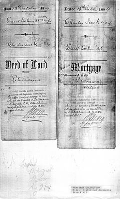Deed of Land 1884