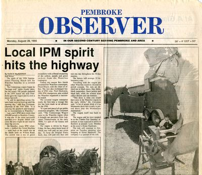 Local IPM spirit hits the highway