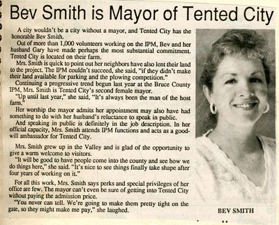 Bev Smith is Mayor of Tented City