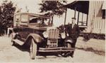 Paul Paquette and his Car circa 1930