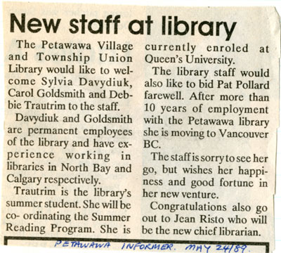 New staff at library