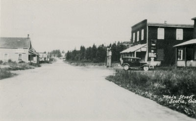 Postcard of Main Street Scotia, Ontario, circa 1915