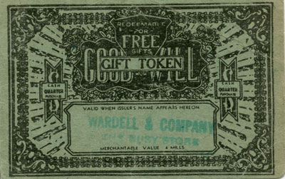 Green Good Will Gift Token for Wardell & Company