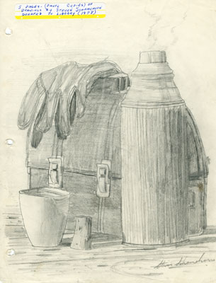 Sketch of Lunch Pail and Thermos, 1978.