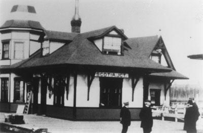 Scotia Junction Railroad Station, circa 1915