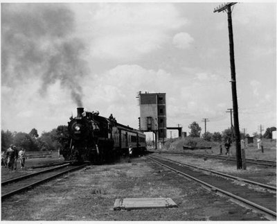 CPR 1057 Steam Excursion arrives in Trenton, early 1970's