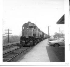 CP 4234 train going west at Trenton for crew change October 1970