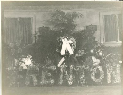 "Flowers sent to opening of ""Carry on, Sergeant"" in Toronto"
