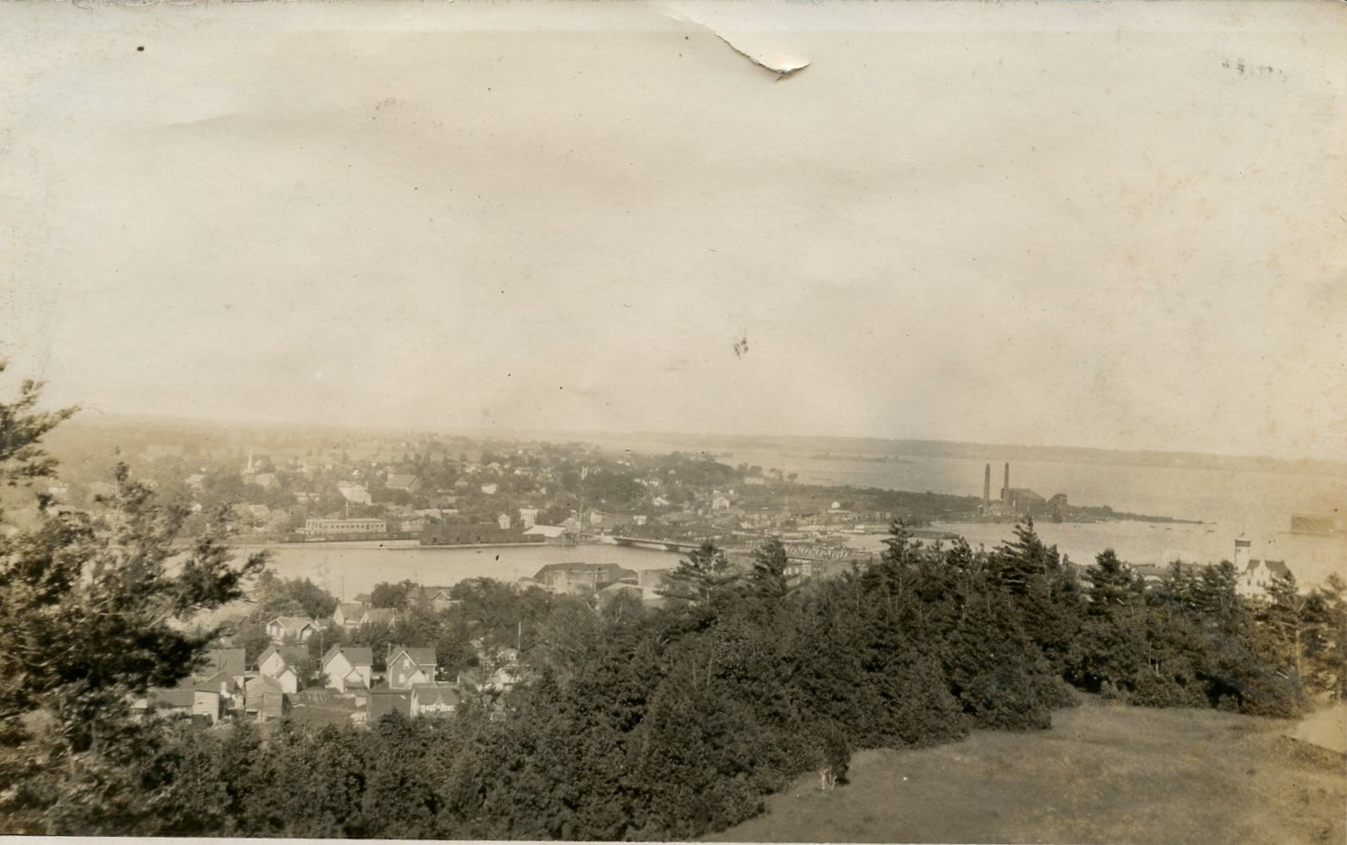 View of Trenton and main Bridge from the Mountain