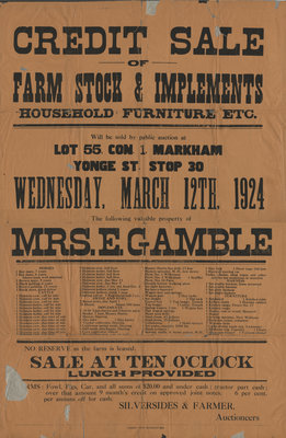 Farm Stock and Implements Sale