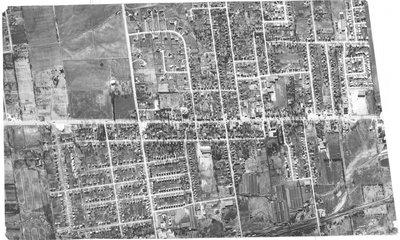 Aerial photograph of Richmond Hill, Yonge Street corridor