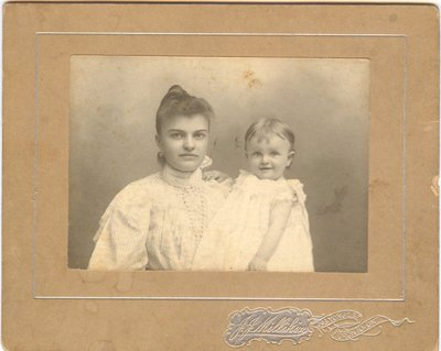 Photograph of a woman with a child