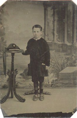 Tintype of a young boy