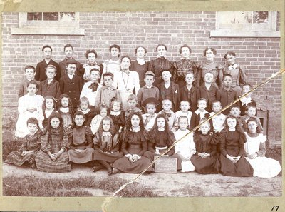 Pupils and teacher at Patterson School