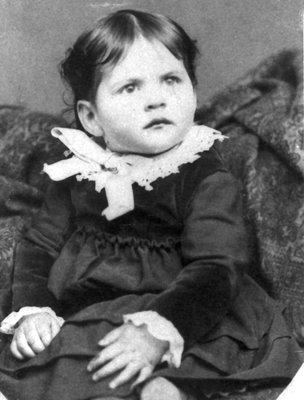 Lillian Carroll as a little girl