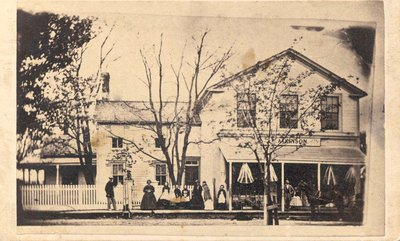 Atkinson family in front of William Atkinson's store