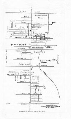 Schematic map of Richmond Hill