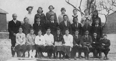 Pupils of senior class of Richmond Hill Public School
