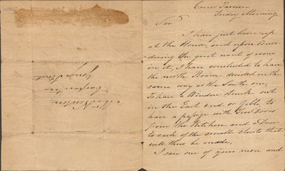 Letter written by Colonel Robert Moodie