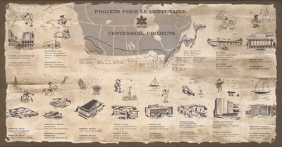Centennial projects and Expo67 plan
