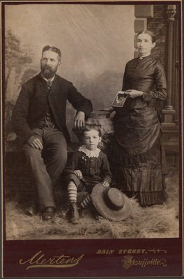 Samuel Brown with his family
